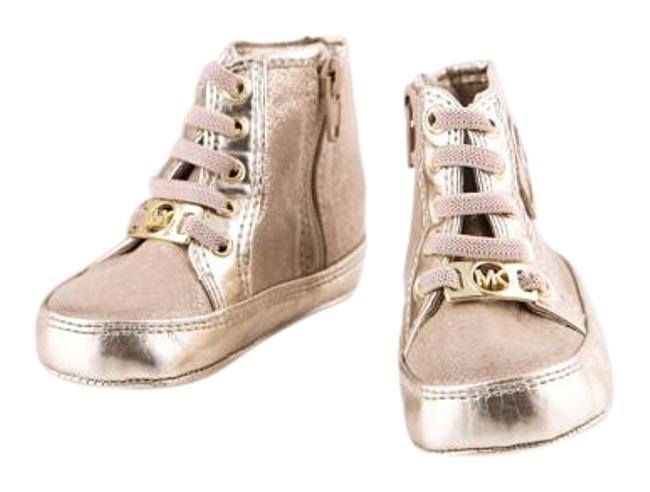 Item - Gold Ana Baby Girls (Infant) Shine High Top Sneakers Size US 4 Regular (M, B)