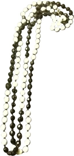 Other Black And White Bead Necklace