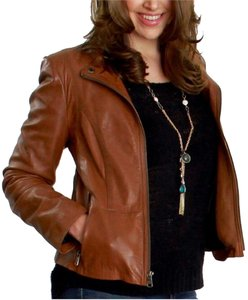 Marc New York Leather Brown Leather Jacket