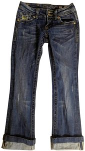 Miss Me P2047 Capris Size 26 Capri/Cropped Denim-Dark Rinse