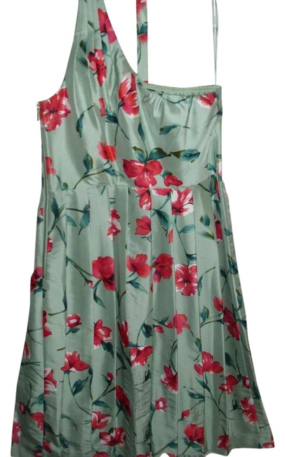 Preload https://img-static.tradesy.com/item/15260695/express-green-one-shoulder-pure-silk-floral-tea-party-knee-length-night-out-dress-size-2-xs-0-5-650-650.jpg