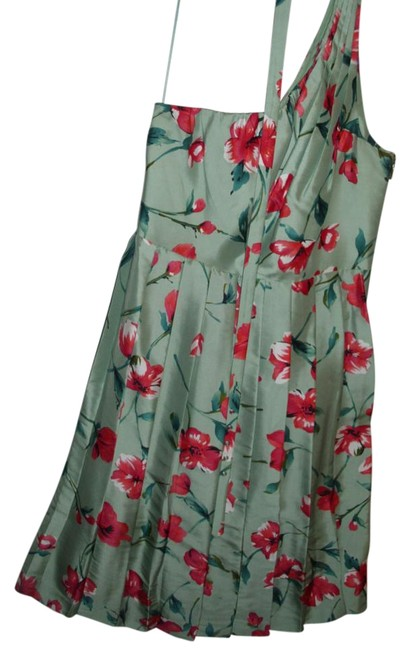 Express Silk Floral Pleated Party Party Dress Image 1