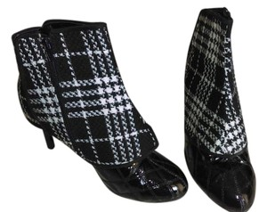 Houndstooth Heels Wide Width black and white Boots
