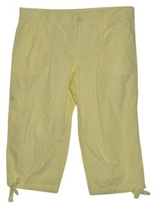Ann Taylor LOFT Beach Resort Vacation Casual Cropped Capris Yellow
