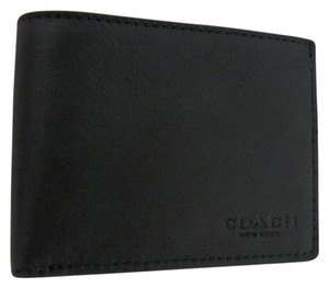 Coach Coach Slim Billfold ID Men's Wallet in Sport Calf Black Leather