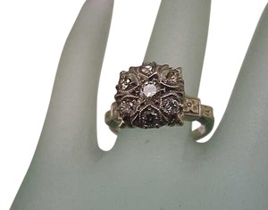Fabulous! Estate 14K 2-Tone Gold Filigree 1.00ct VS/G Old European Cut Diamond Ring ,ART DECO,1920s