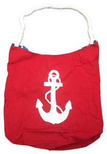 Sally Beauty Anchor Beach Nautical Red Beach Bag