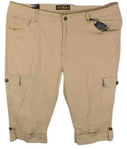 Old Skool Urban Wear Plus Size Fashions Cargo Khaki Capris