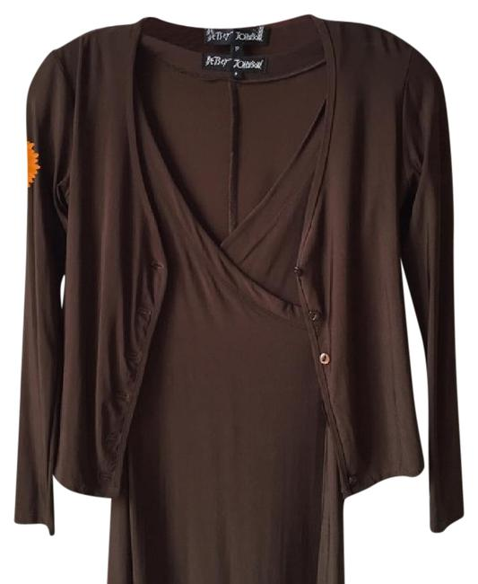 Preload https://img-static.tradesy.com/item/15261583/betsey-johnson-brown-matching-sweater-set-short-workoffice-dress-size-petite-4-s-0-7-650-650.jpg