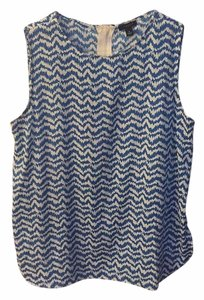 Ann Taylor Top Blue/White