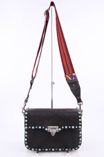 Valentino Leather Black/Mulitcolor Cross Body Bag Image 2