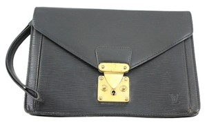 Louis Vuitton Sellier Black Clutch
