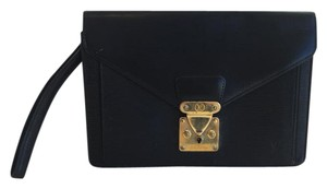 Louis Vuitton Sellier Epi Dragonne Black Clutch