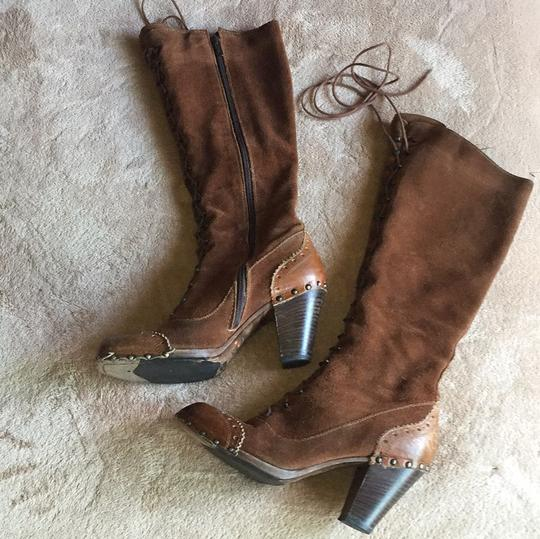 MO MA Made in Italy 39 Redish | Brown Boots Image 3