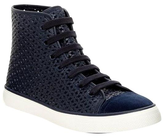 Tory Burch Navy Perforated High Top