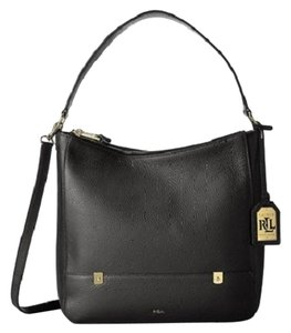 Ralph Lauren Pebbled Leather Hobo Bag