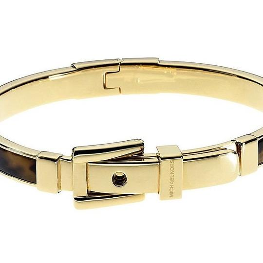 Michael Kors Michael Kors Buckle Bangle - Tortoise/ Golden brass hardware MKJ1674-710 Image 1