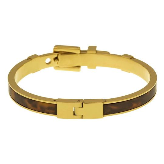 Michael Kors Michael Kors Buckle Bangle - Tortoise/ Golden brass hardware MKJ1674-710 Image 8