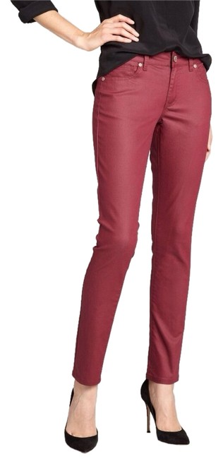 Item - Burgundy Coated Bundle Mm Denim and 7 For All Mankind Skinny Jeans Size 25 (2, XS)