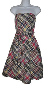 American Eagle Outfitters short dress Madras Plaid Patchwork A-line Tea Length Resort on Tradesy