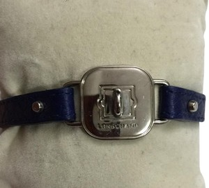 Longchamp Longchamp le pliage leather bracelet in blue