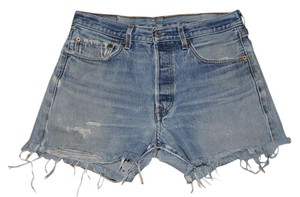 Levi's Vintage Distressed Frayed Cut Off Shorts