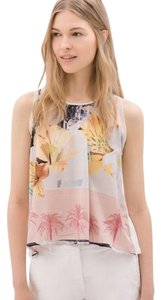 Zara Floral Summer Top White , pink