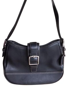 Coach Front Flap Leather Hobo Bag