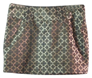 Bitten by Sarah Jessica Parker Mini Skirt Gold and Black