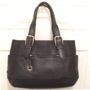Cole Haan Leather Tote Satchel in Black