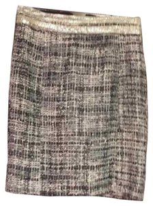 Tory Burch Skirt Black/grey/mauve/copper tweed with silver embellishment