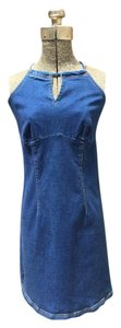 Xhilaration short dress Medium Blue Stretch Denim on Tradesy
