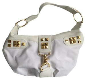 bebe Studded Gold Hardware Hobo Bag