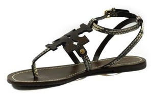 Tory Burch Chandler Flat Thong Leather Multi-Color Sandals