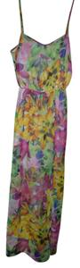 Pink, yellow, green Maxi Dress by Jessica Simpson Maxi Floral Pink