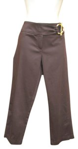 Cache Sateen Cropped Summer Capri/Cropped Pants Dark Brown