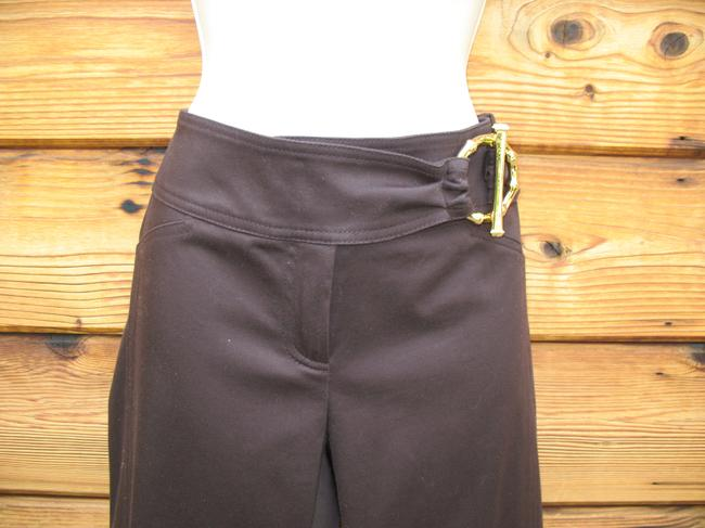 Cache Sateen Summer Capri/Cropped Pants Dark Brown Image 1