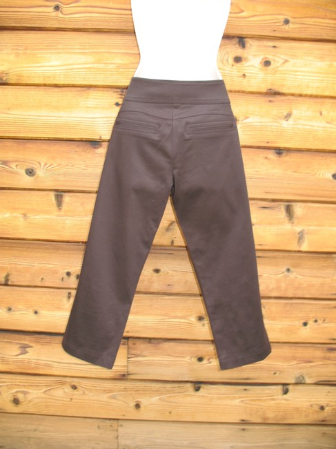 Cache Sateen Summer Capri/Cropped Pants Dark Brown Image 3