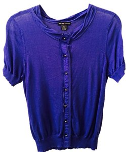 New York & Company Lightweight Knit Button Down Royal Cardigan