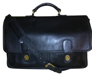 Coach Leather Brass Hardware Laptop Bag