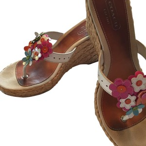 Coach White /multi Wedges