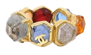 Chanel Chanel Vintage Multi Colore Gripoix Ring