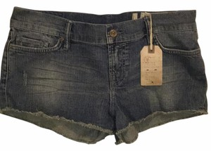 AllSaints Cut Off Shorts Blue