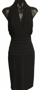 Tadashi Shoji Lbd Halter Below Knee Formal Dress