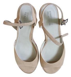 Kenneth Cole Reaction Beige Platforms