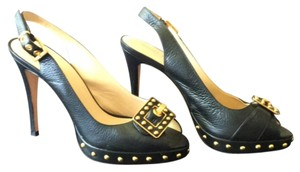 Anne Klein Black and gold Platforms