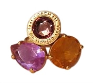 Coach Coach large gem ring