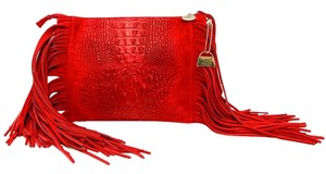 Alles Bags Crocodile Embroidered Suede Cross Body Bag
