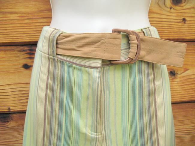 Tommy Bahama Crop Striped Silk Belted Capri/Cropped Pants Multi Image 2