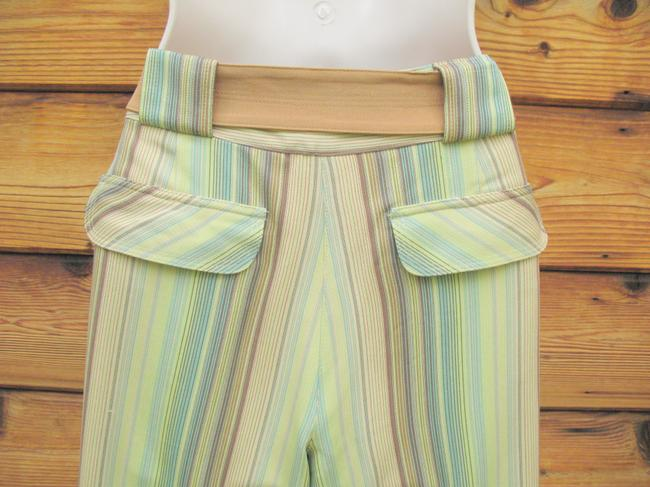 Tommy Bahama Crop Striped Silk Belted Capri/Cropped Pants Multi Image 6